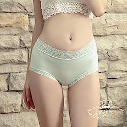 內褲  超柔軟親膚蕾絲褲-果綠 La Queen