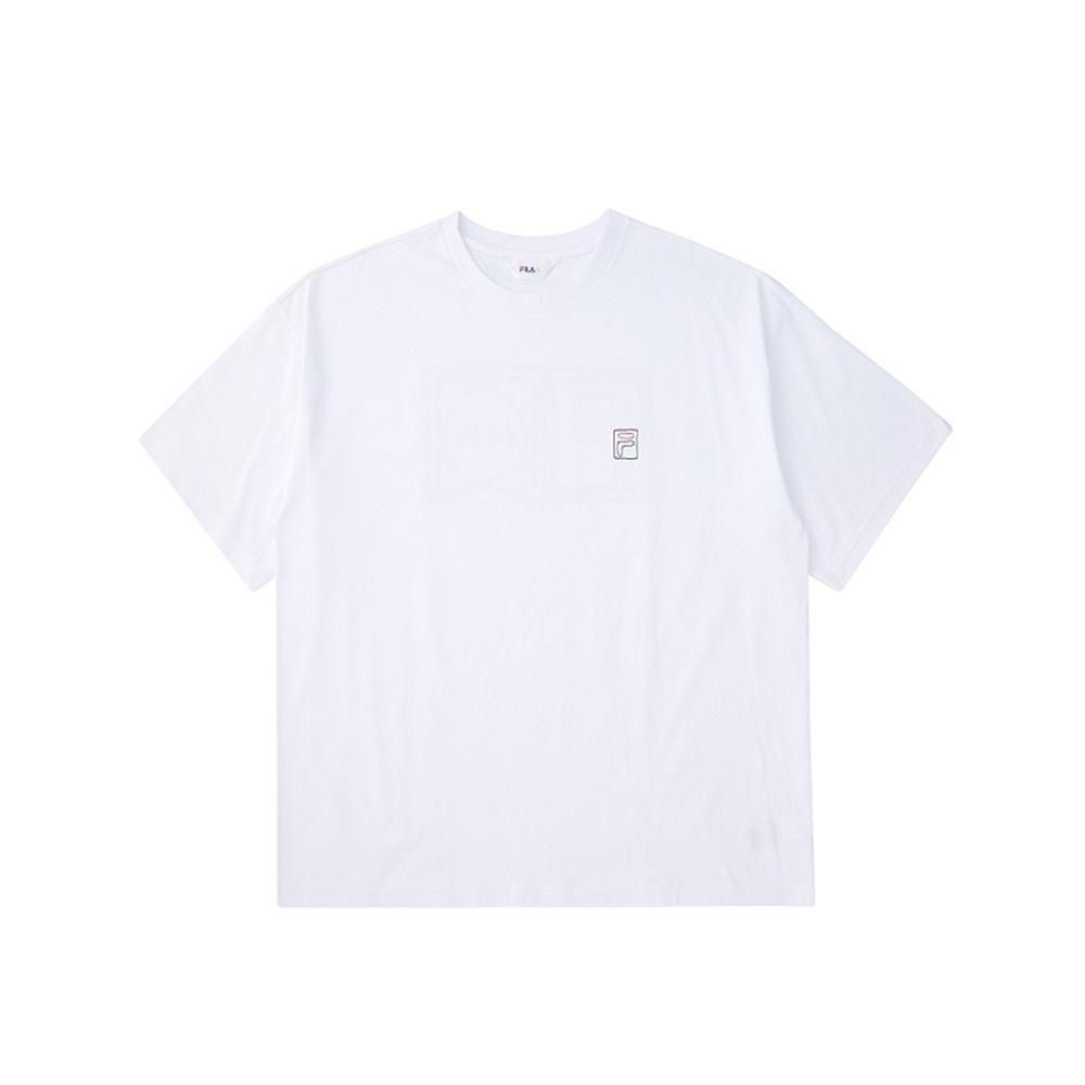 FILA 短袖圓領上衣-白 1TEV-1506-WT