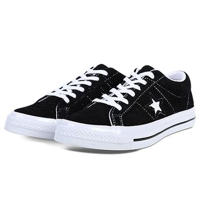 CONVERSE ONE STAR OX BLACK/WHITE/WHITE 男女款 158369C
