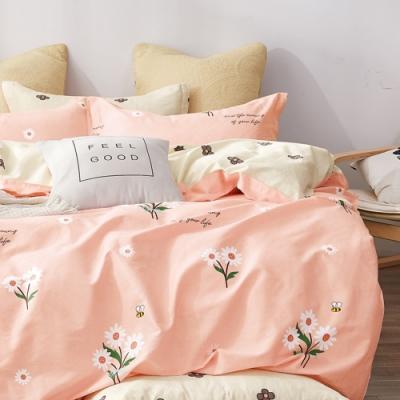 戀家小舖 / 單人床包枕套組 花絮語 100%精梳純棉