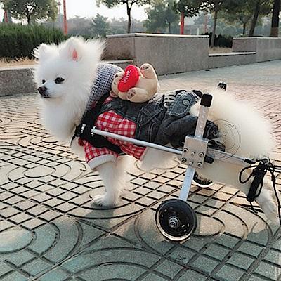 DYY》狗輪椅後肢癱瘓寵物代步車寵物輪椅XS號加寬