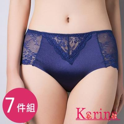 Karina-魅惑蕾絲中高腰內褲(7件組)