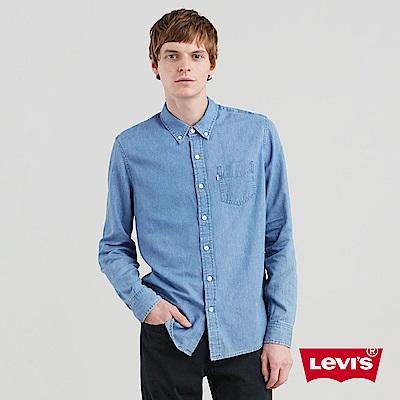 Levis 男款 輕磅牛仔襯衫 Lyocell天然環保纖維 休閒版型 單口袋