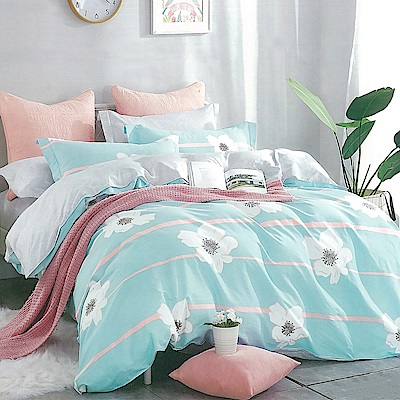 LAMINA 晴空花園 精梳棉四件式兩用被套床包組(雙人)