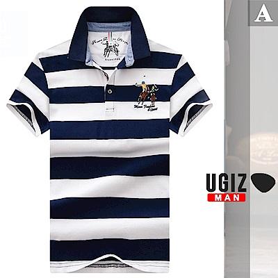 [時時樂]UGIZ-型男經典百搭配色條紋POLO衫-3款任選(M-3XL)