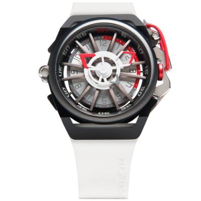 MAZZUCATO 義式美學鷗翼式翻轉機械石英雙面手錶(RIM13-WHCG10)