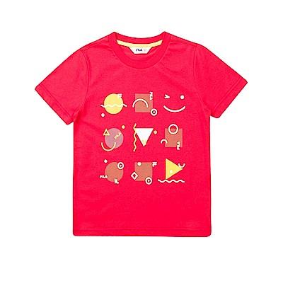 FILA KIDS 針織上衣-桃紅色 1TET-4403-PC