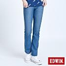 EDWIN JERSEYS 迦績 EJ1 超彈中低腰靴型牛仔褲-女-漂淺藍