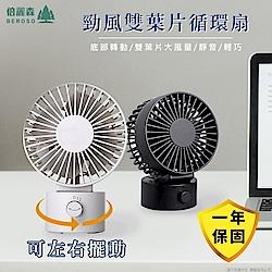 倍麗森 日式USB強風雙葉片電風扇