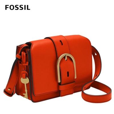 【FOSSIL】Wiley 真皮復古美型側背包-紅色 ZB1459620
