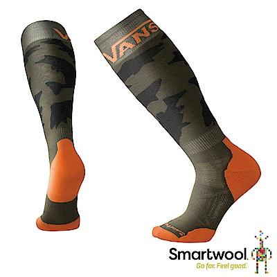 SmartWool X VANS 聯名款PhD滑雪輕量避震高筒襪 橄欖綠