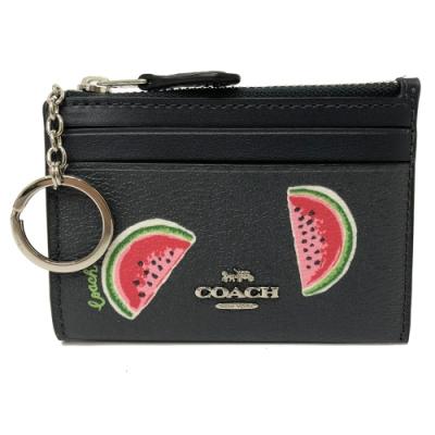 COACH 悠遊卡鑰匙零錢包(西瓜/深藍)