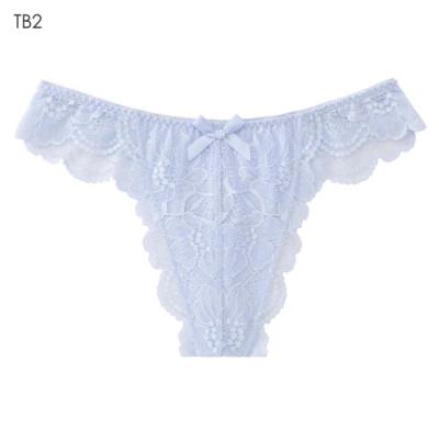 aimerfeel 高雅蕾絲性感丁字褲-冰藍色-603723-TB2
