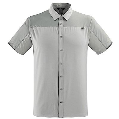 法國【EiDER】男排汗透氣抗UV短袖襯衫銀石灰