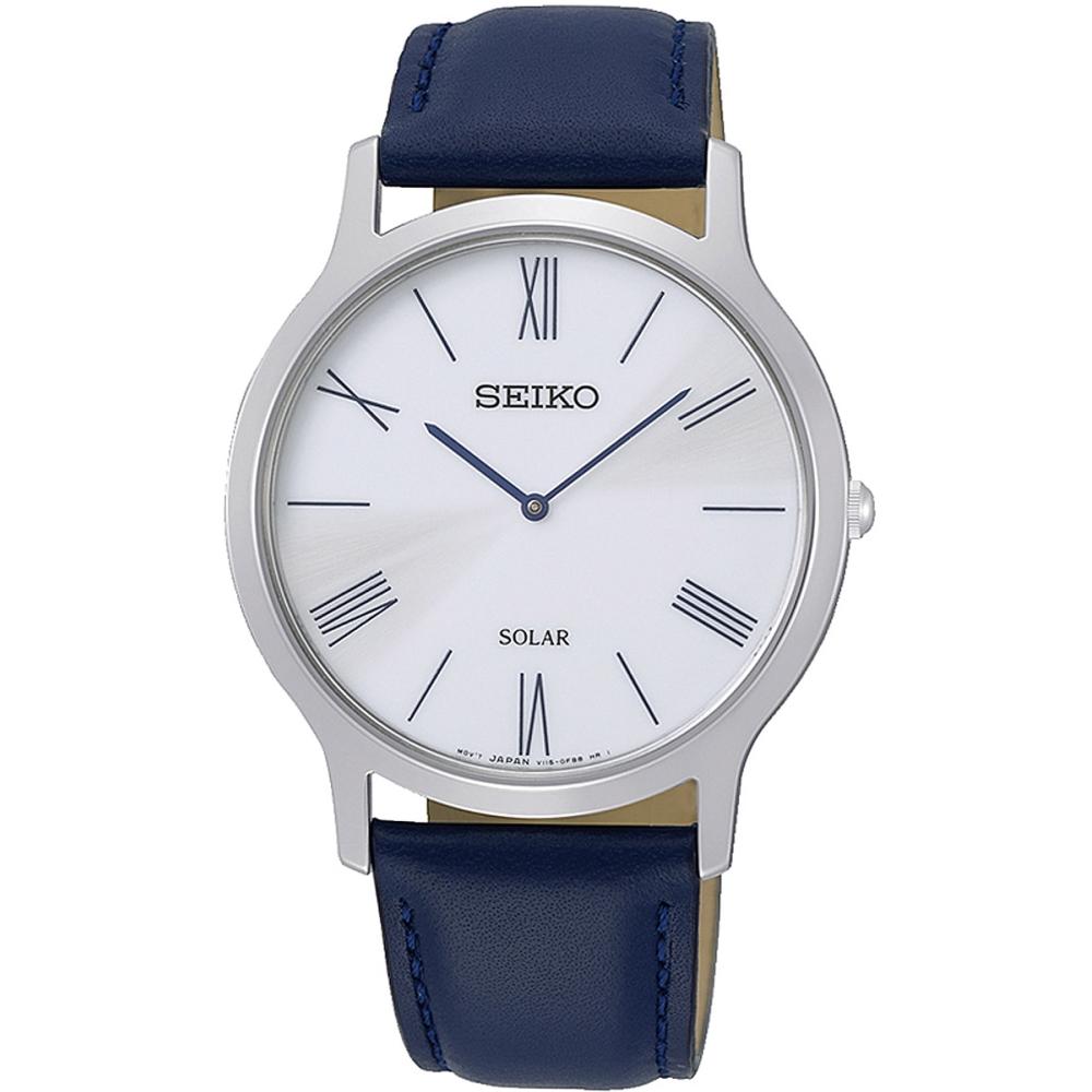 SEIKO 太陽能極簡風格時尚腕錶/SUP857P1/V115-0BE0B