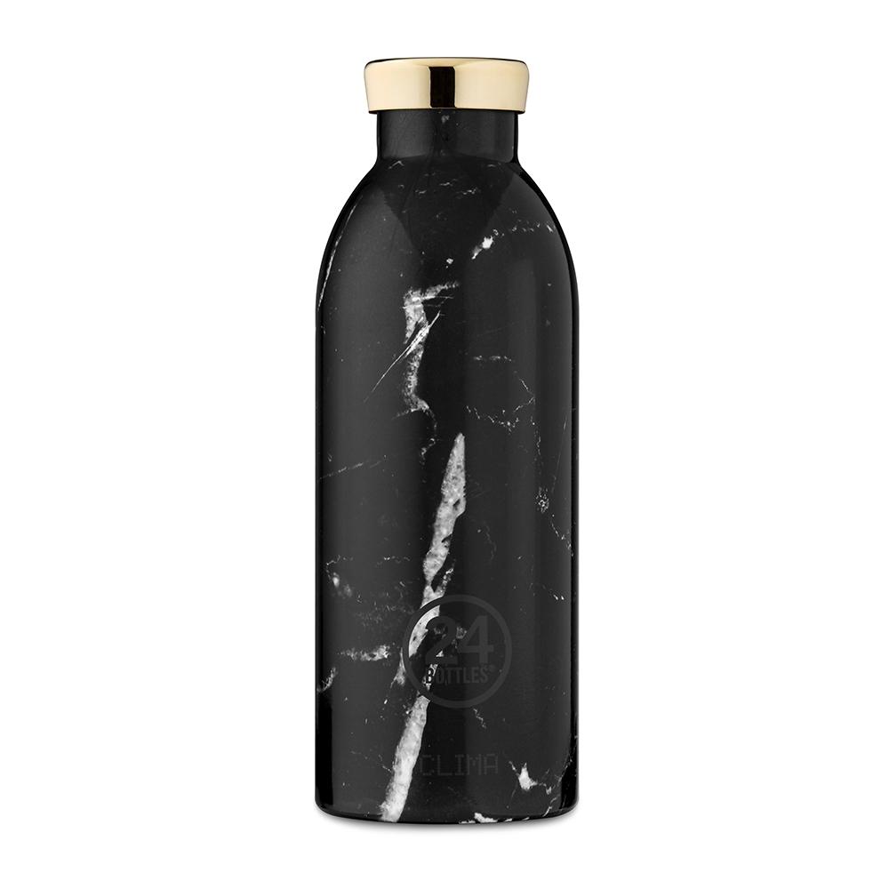 義大利 24Bottles不鏽鋼雙層保溫瓶500ml-黑雲石