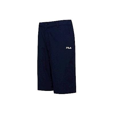 FILA 男款平織短褲-丈青 1SHT-1447-NV