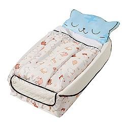 西松屋 Smart Angel 可愛小貓咪-輕便型攜帶式嬰兒床
