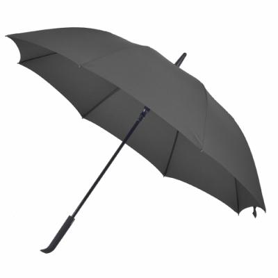 2mm 日系無印風 彎手柄高爾夫防風直傘 (黑色)