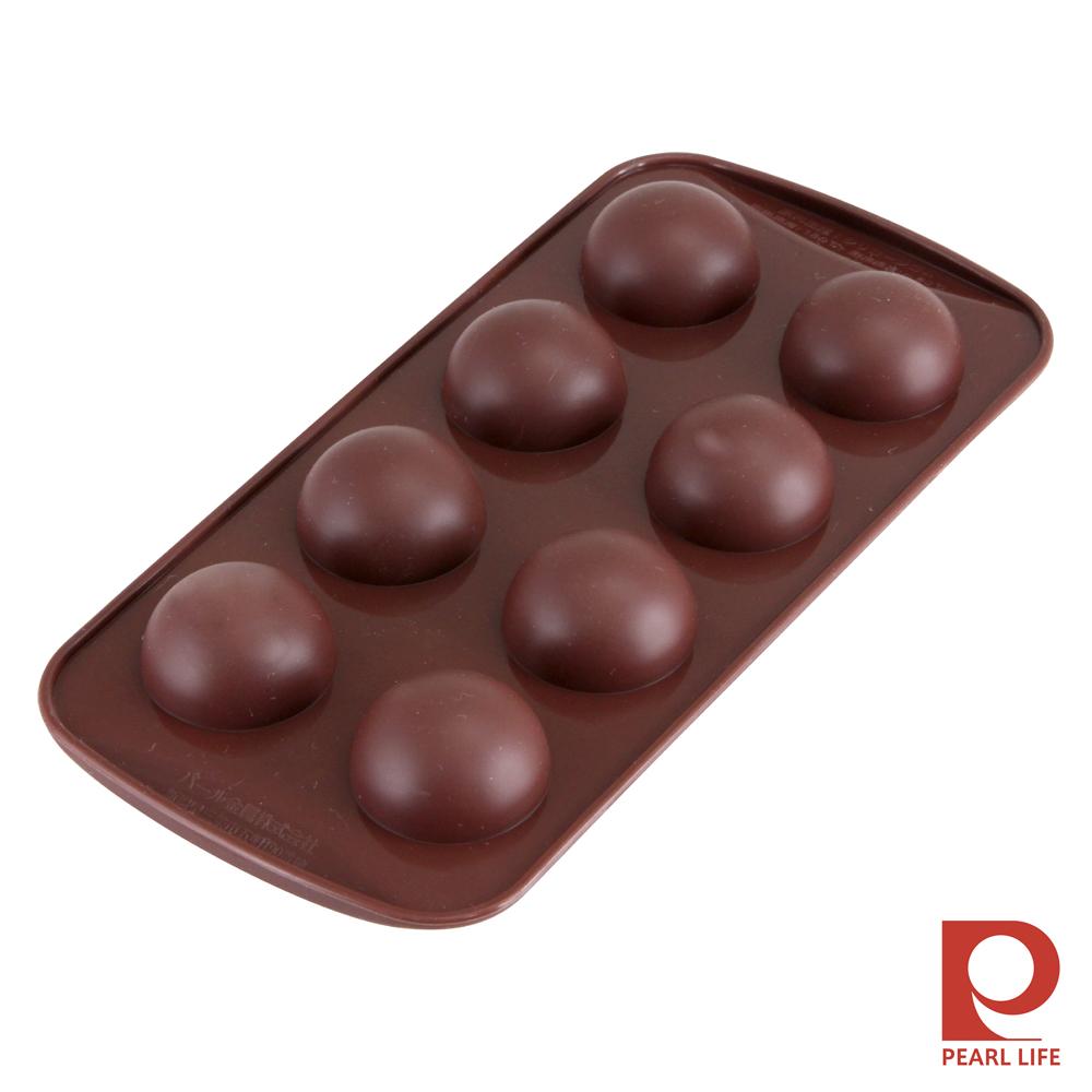 日本Pearl Life Loving8連圓球巧克力模/冰模-咖啡色