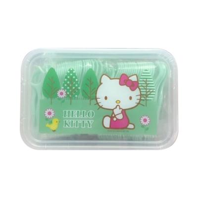 Hello Kitty 凱蒂貓 薄荷扁線牙線棒 500 支(盒裝) X 4 盒(台灣製)