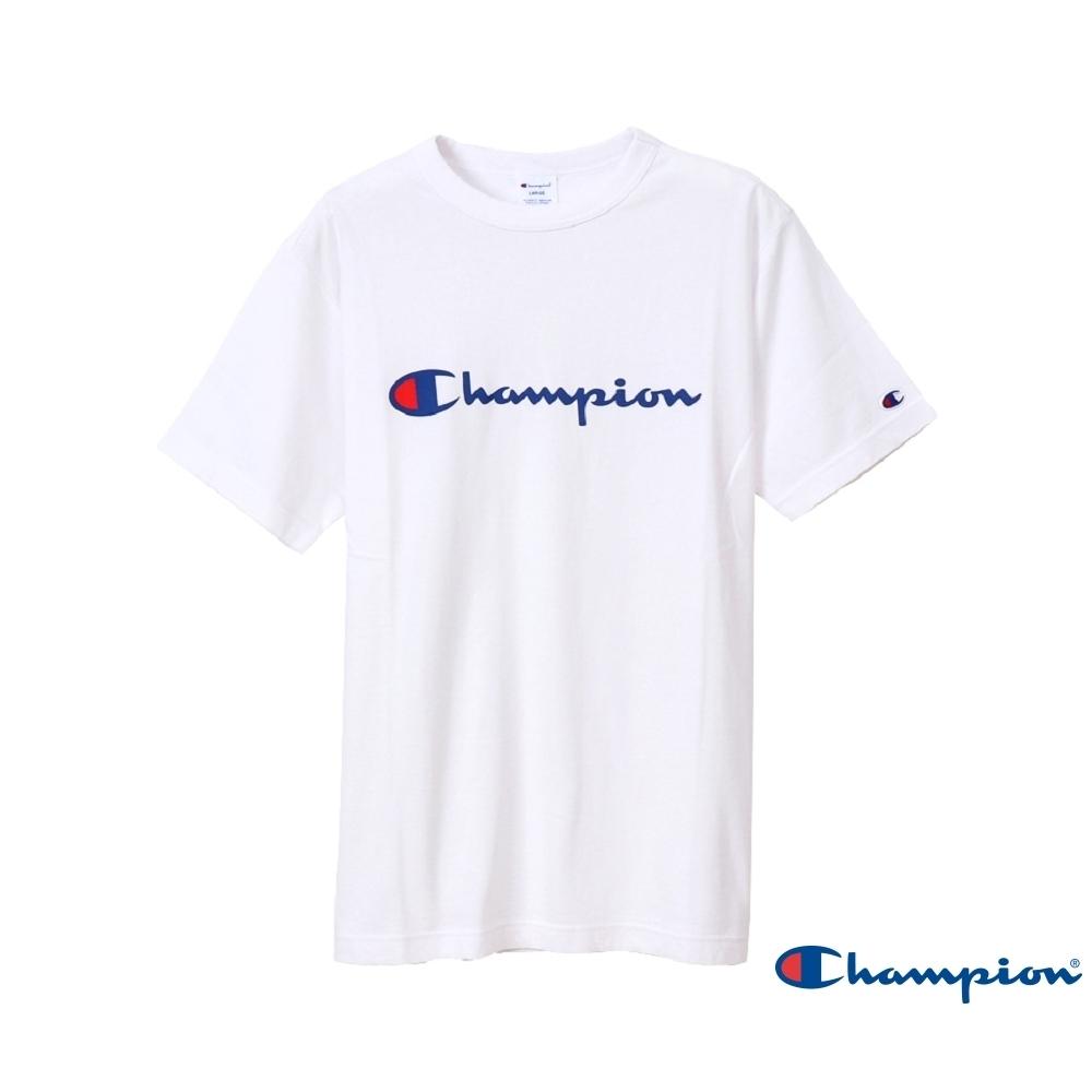 Champion Basic Logo短Tee 白