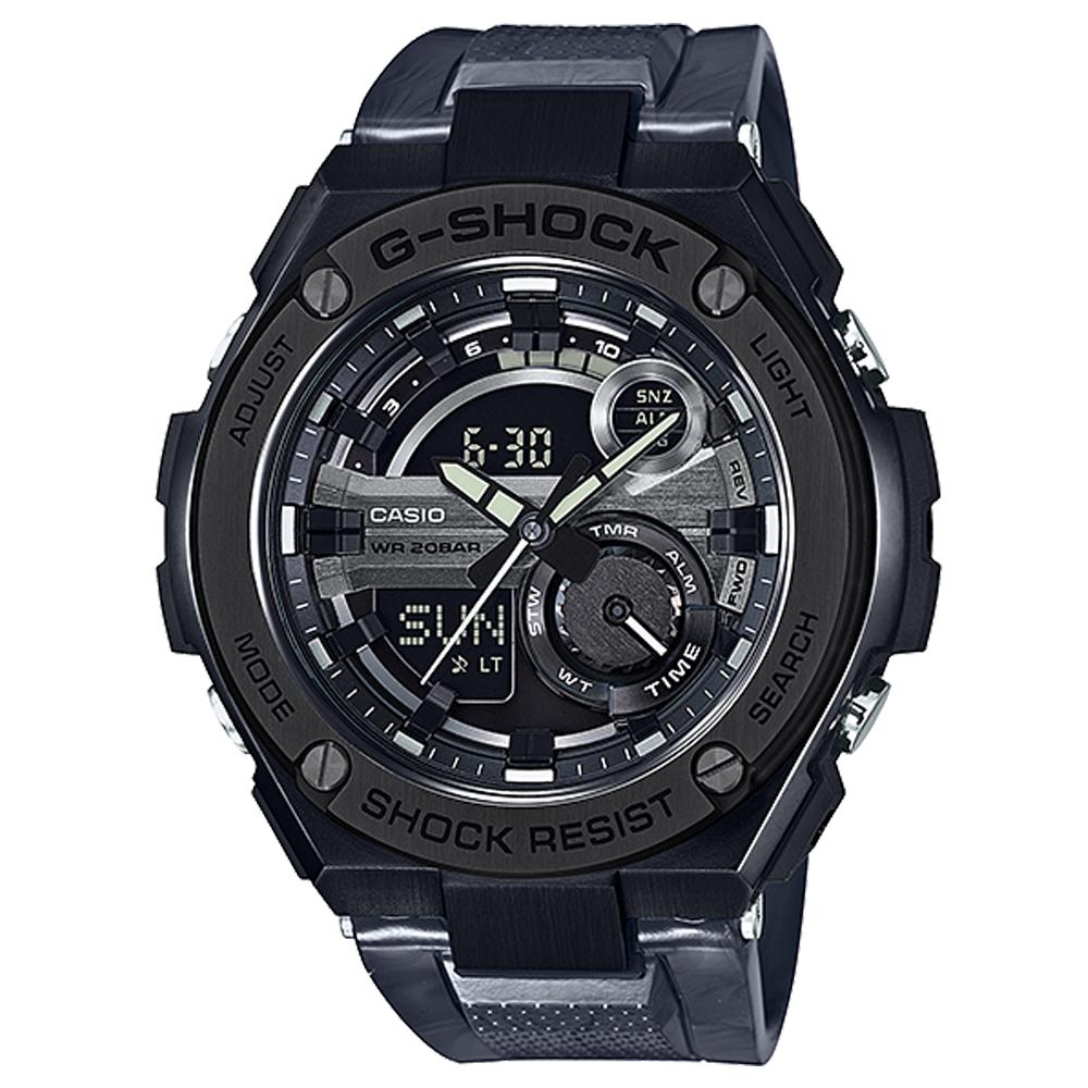 G-SHOCK精密防震分層防護構造概念休閒錶(GST-210M-1A)迷霧黑52.4mm