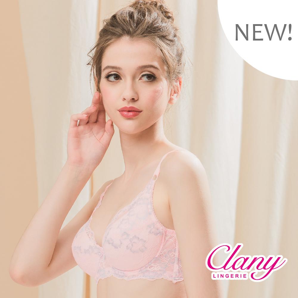 台灣製微乳排汗透氣超舒適C-F 加大下圍全罩杯內衣 粉色 可蘭霓Clany