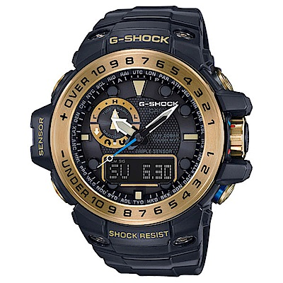 G-SHOCK 海洋探險家電波運動錶(GWN-1000GB-1A)-55.8mm