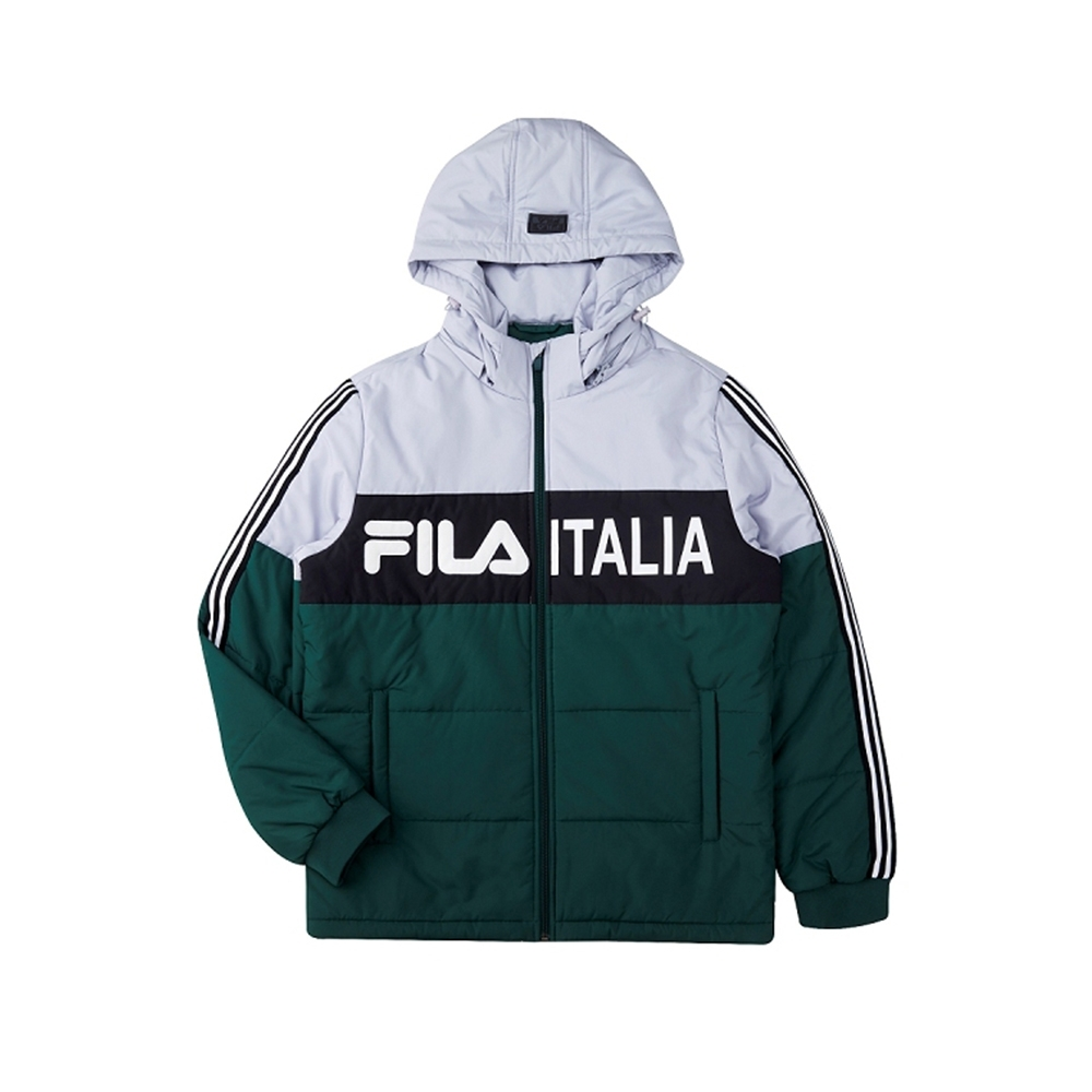 FILA 男鋪棉外套-深綠 1JKU-5488-GN