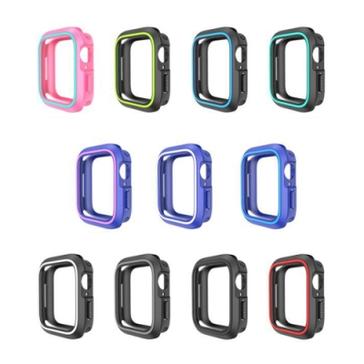 QinD Apple Watch (42mm) 雙色矽膠保護套