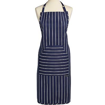 《KitchenCraft》平口雙袋圍裙(條紋藍)