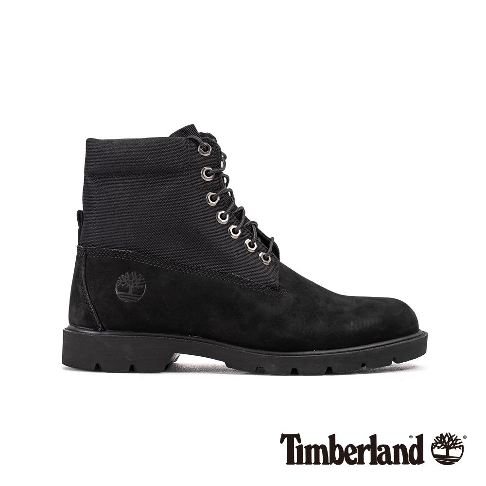Timberland 男款黑色可反摺防水靴|6635A