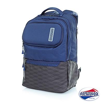 AT美國旅行者 Vibe+上鎖式收納筆電後背包(海軍藍/灰)