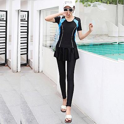 Biki比基尼妮泳衣  四季長褲泳衣二件式泳衣泳裝(M-XL)
