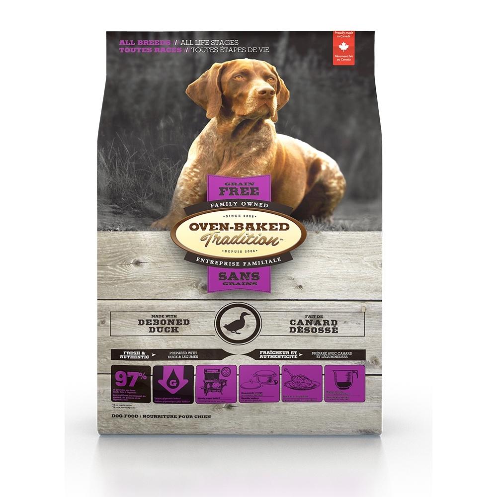 加拿大OVEN-BAKED烘焙客-全齡犬無穀鷹嘴豆鴨-原顆粒 10.43kg(23lb) (購買第二件贈送寵鮮食零食*1包)