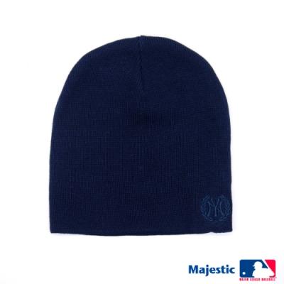 MLB-洋基純色電繡質感毛帽-深土耳其藍
