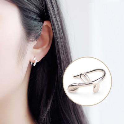 梨花HaNA  韓國925銀細緻清新小葉子耳環