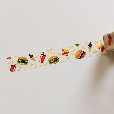 Dailylike 單捲紙膠帶 - 111 漢堡大餐