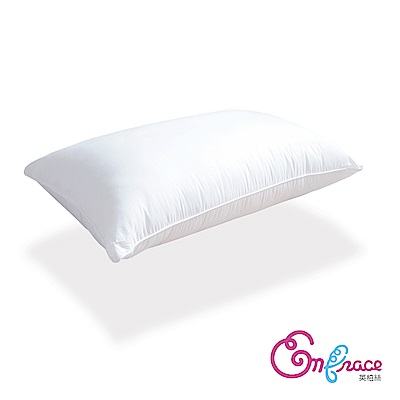 Embrace英柏絲 台灣製Q彈釋壓 獨立筒彈簧枕頭  偏硬枕-兩入