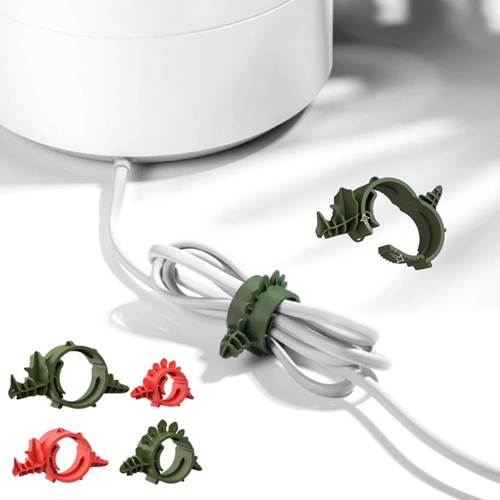 bcase 恐龍束線器 線材收納 多功能收納夾 適用充電線/電源線 (4入/組)