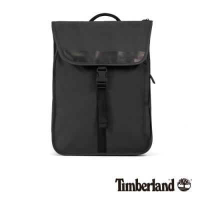 Timberland 中性黑色翻蓋雙肩後背包|A1D1L