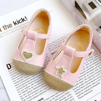 Swan天鵝童鞋-愛心與星星寶寶學步鞋1590-粉