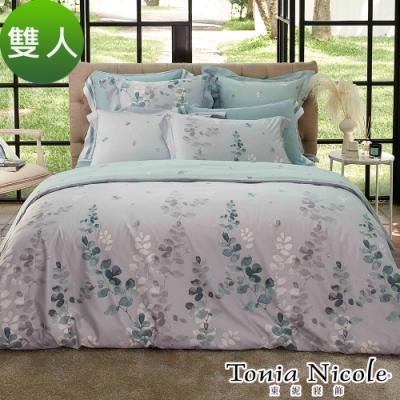 (活動)Tonia Nicole東妮寢飾 晨光綠映高紗支長纖細棉被套床包組(雙人)