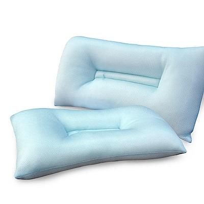 精靈工廠 6D吸濕排汗 透氣舒鼾枕/淺藍