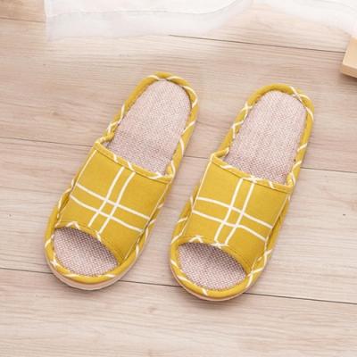 333家居鞋館 法式微糖室內蓆拖鞋-黃色