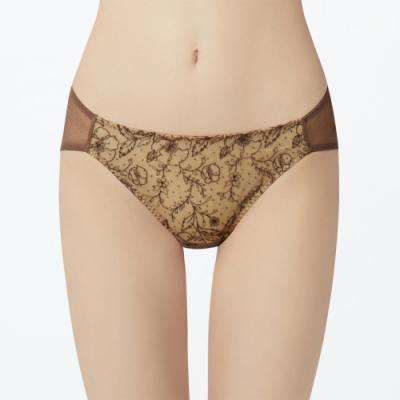 瑪登瑪朵 無比集中 低腰三角網內褲(享樂棕)