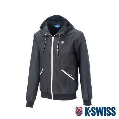 K-SWISS Solid Windbreaker 1風衣外套-男-黑