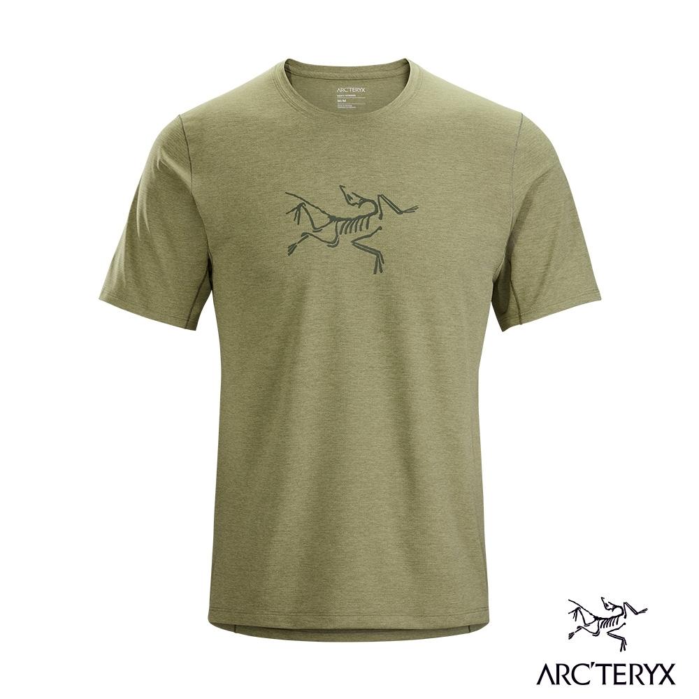 Arcteryx 始祖鳥 男 Cormac logo 快乾 短袖圓領衫 動能綠