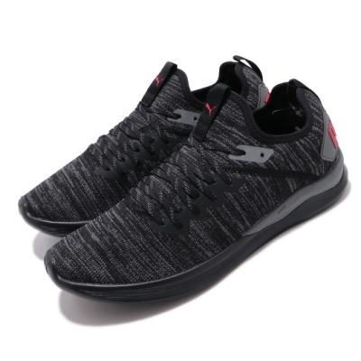 Puma 慢跑鞋 Ignite Flash 襪套 運動 男鞋 輕量 透氣 舒適 避震 路跑 健身 穿搭 黑 紅 19050825